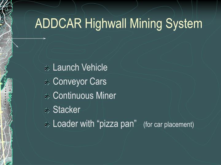 ADDCAR Highwall Mining System