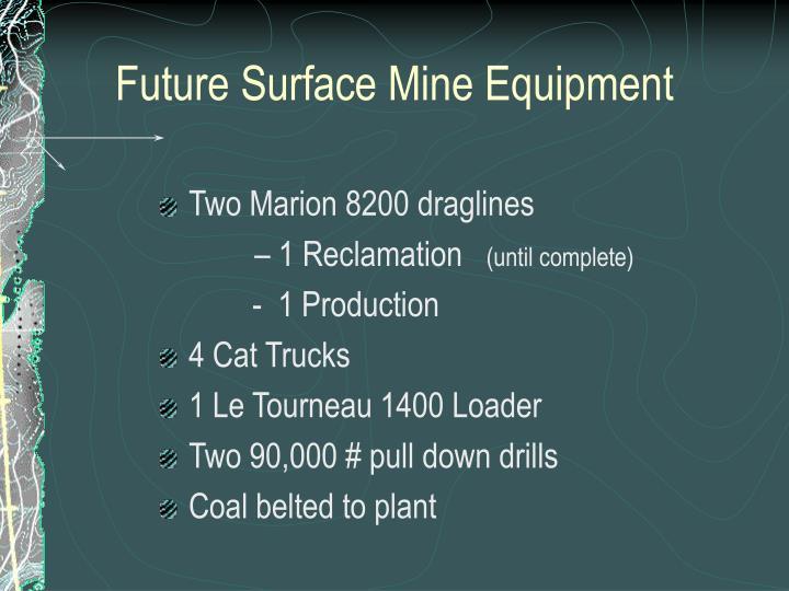 Future Surface Mine Equipment