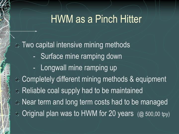 HWM as a Pinch Hitter