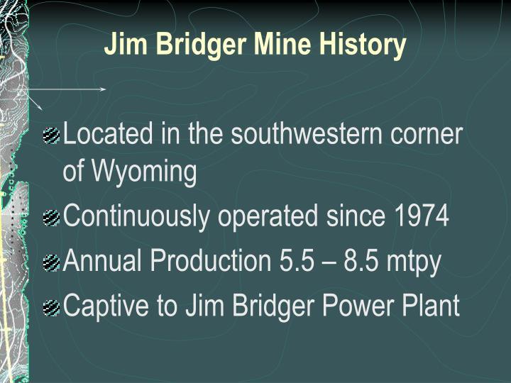 Jim Bridger Mine History