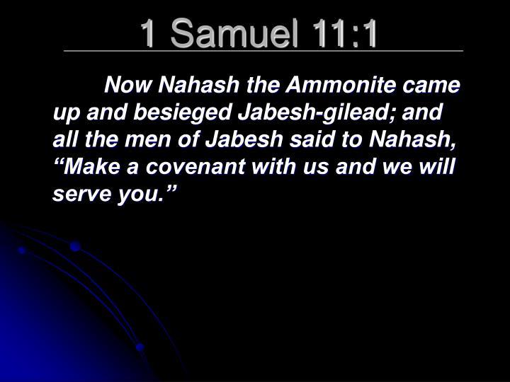 1 Samuel 11:1