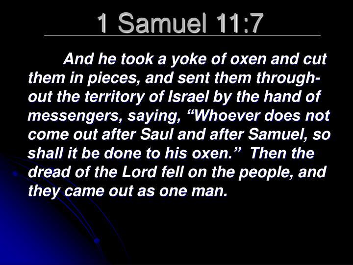 1 Samuel 11:7