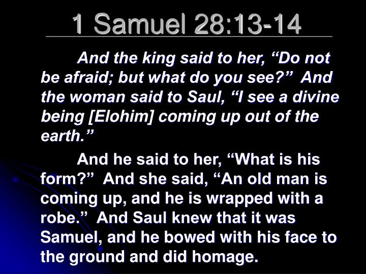 1 Samuel 28:13-14