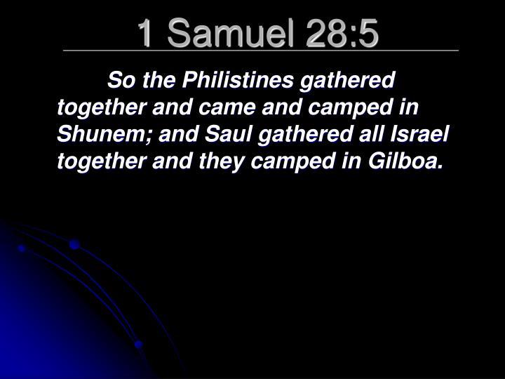 1 Samuel 28:5
