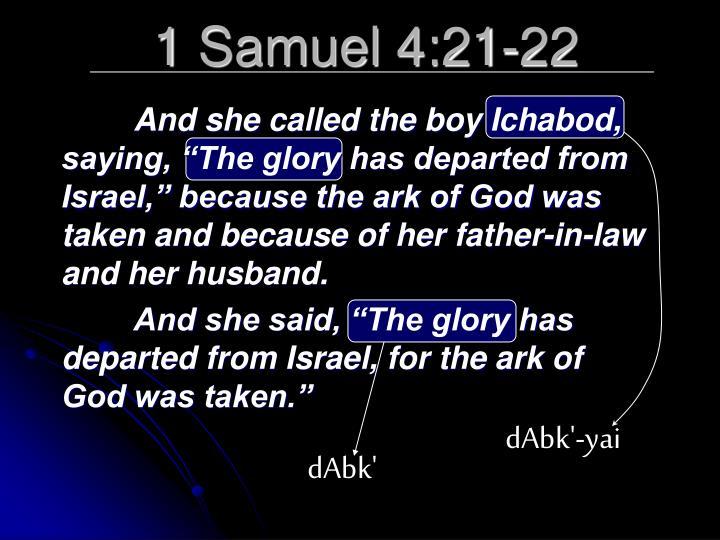 1 Samuel 4:21-22