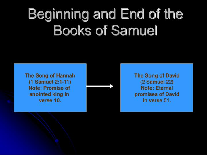 Beginning and End of the Books of Samuel