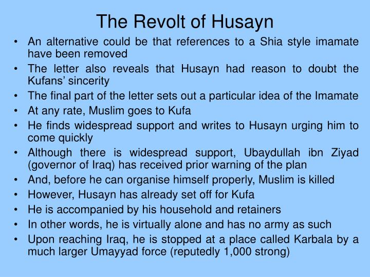 The Revolt of Husayn