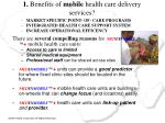 1 benefits of mobile health care delivery services