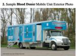 2 sample blood donor mobile unit exterior photo
