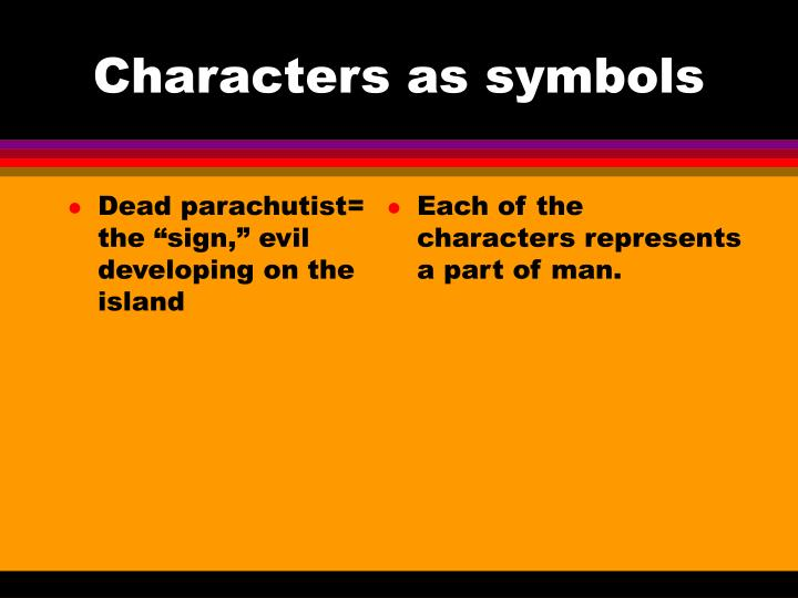 "Dead parachutist= the ""sign,"" evil developing on the island"