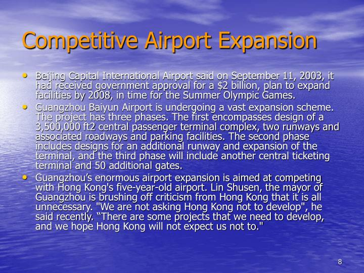 Competitive Airport Expansion