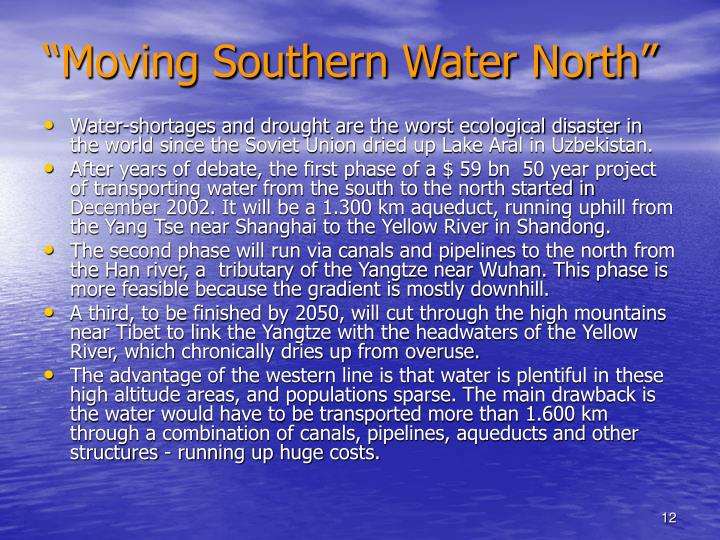 """""""Moving Southern Water North"""""""