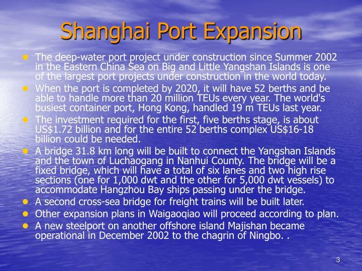Shanghai Port Expansion