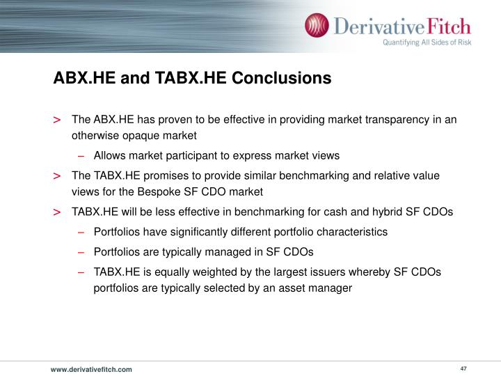 ABX.HE and TABX.HE Conclusions