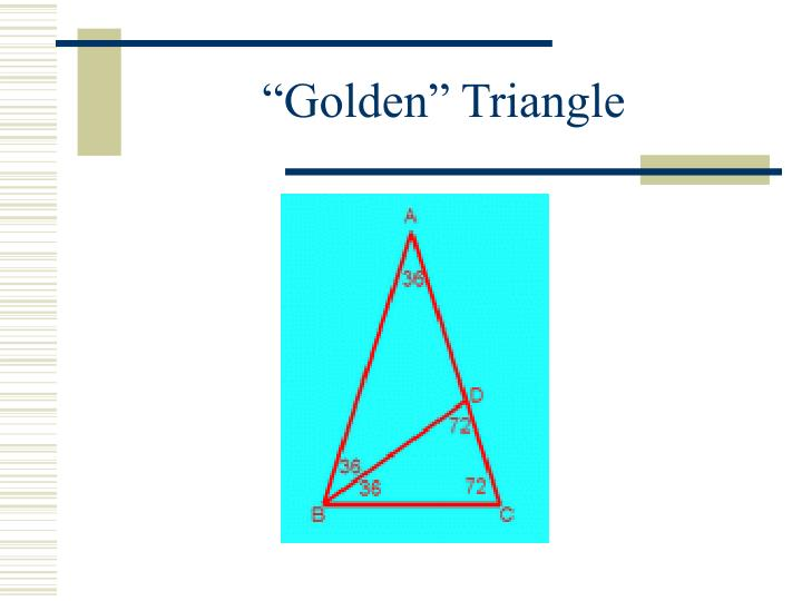 """Golden"" Triangle"