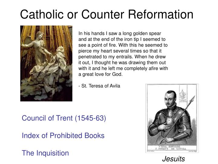 Catholic or Counter Reformation