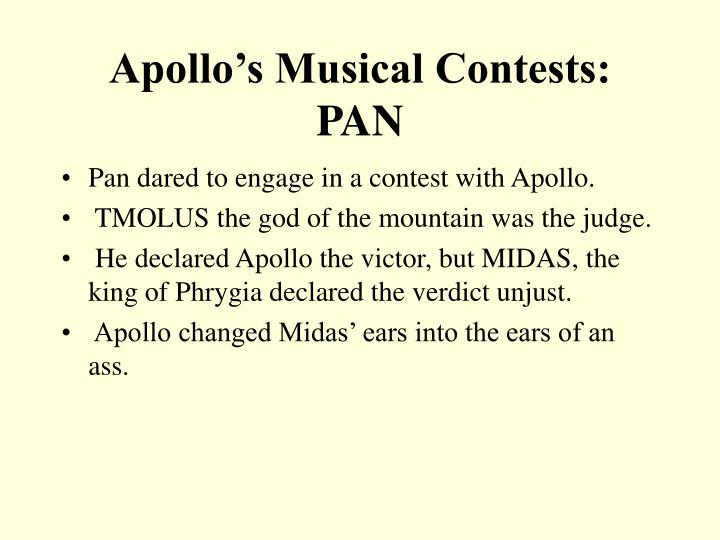 Apollo's Musical Contests: PAN