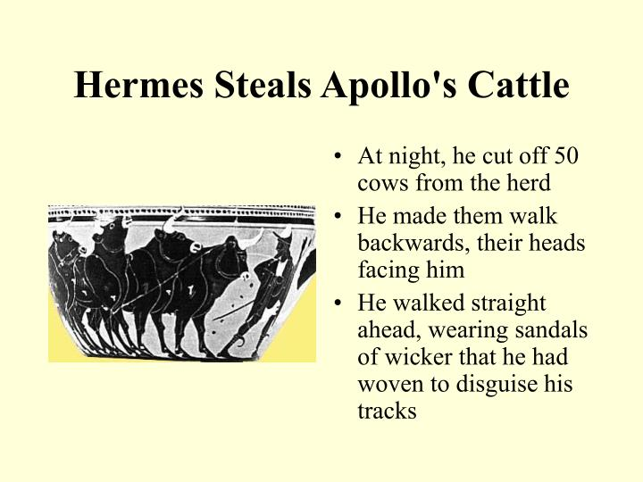 Hermes Steals Apollo's Cattle