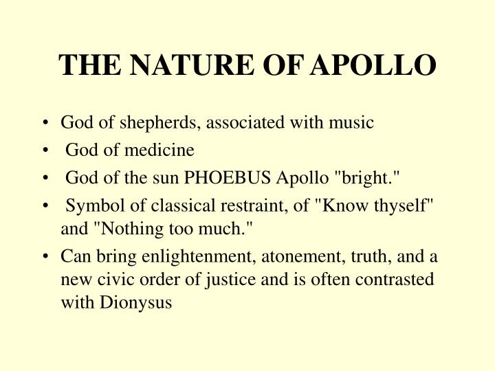 THE NATURE OF APOLLO
