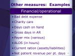 other measures examples2