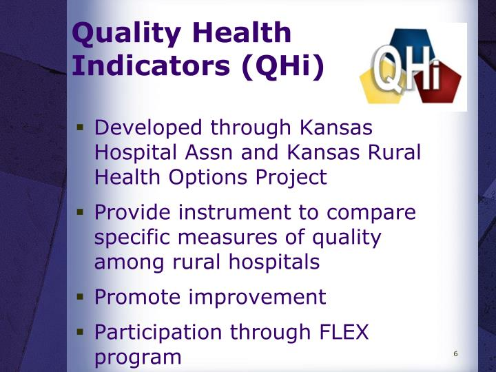 Quality Health       Indicators (QHi)
