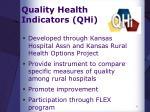 quality health indicators qhi