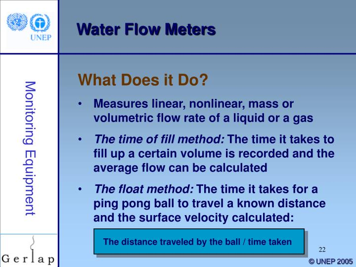 The distance traveled by the ball / time taken