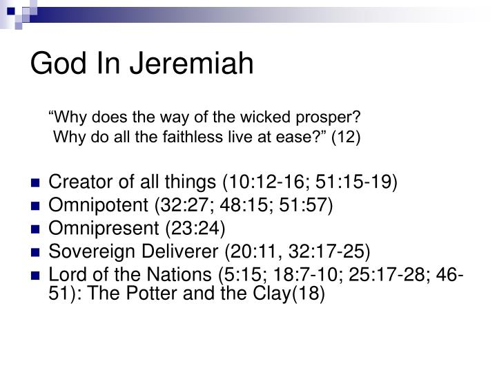 God In Jeremiah