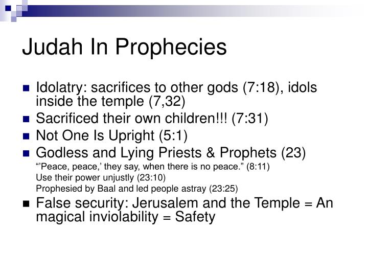 Judah In Prophecies