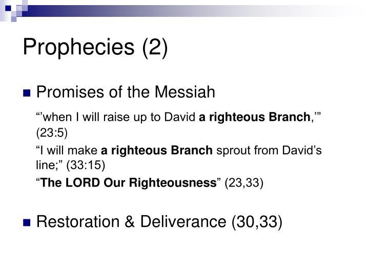 Prophecies (2)