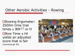 other aerobic activities rowing