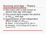 running and age theory