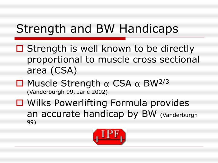 Strength and BW Handicaps