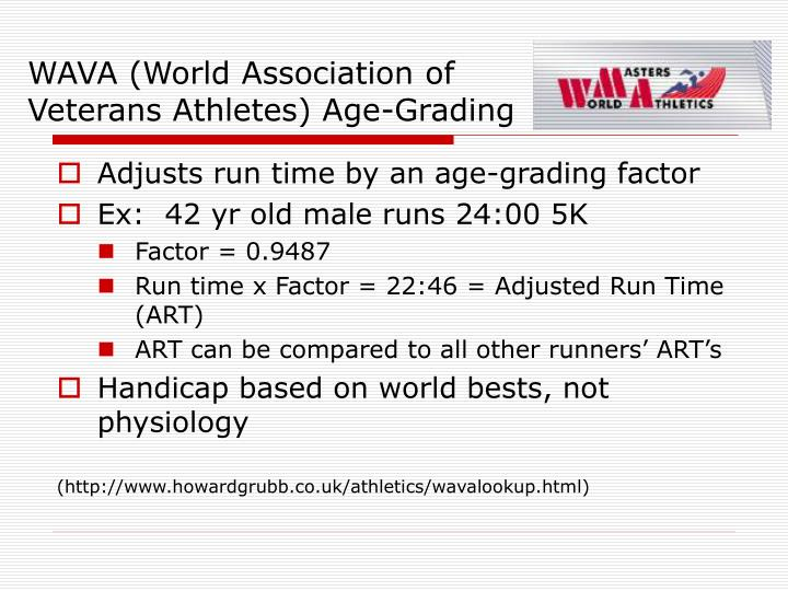 WAVA (World Association of Veterans Athletes) Age-Grading