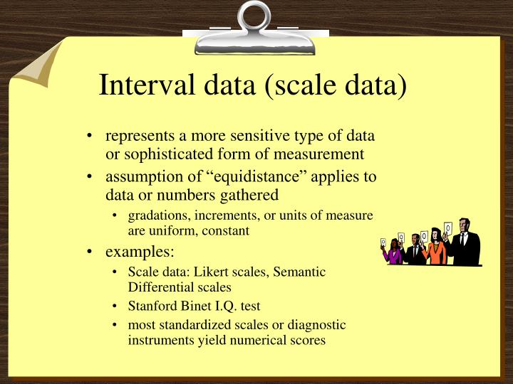 Interval data (scale data)