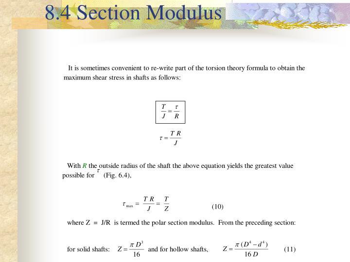 8.4 Section Modulus