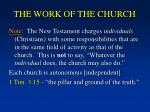 the work of the church3