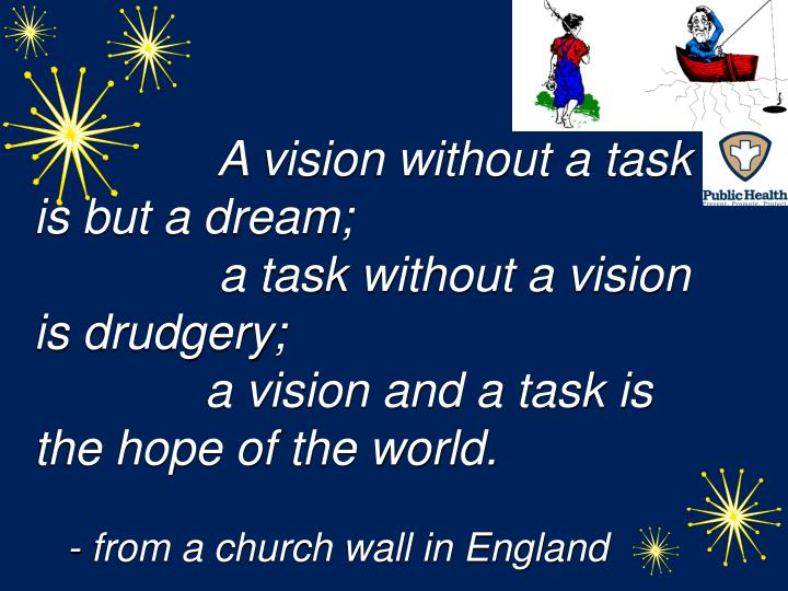 A vision without a task is but a dream;