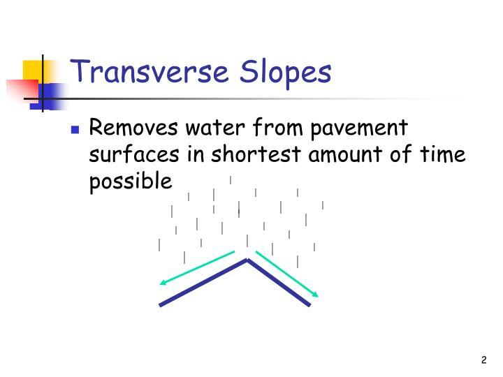 Transverse Slopes