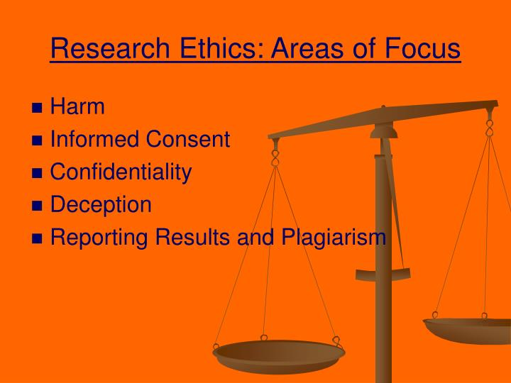 Research Ethics: Areas of Focus