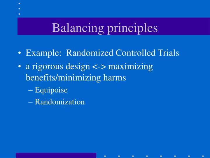 Balancing principles