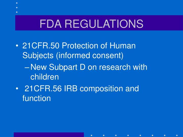 FDA REGULATIONS