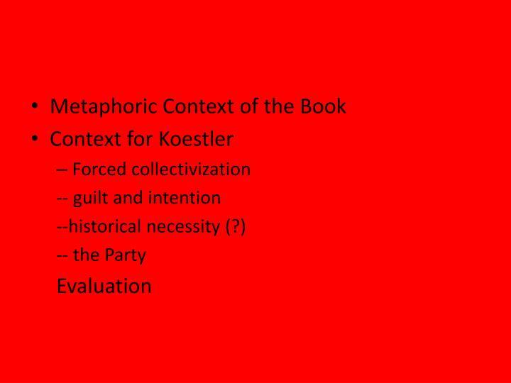 Metaphoric Context of the Book