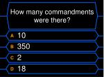 how many commandments were there