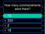 how many commandments were there1