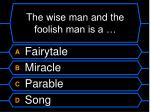 the wise man and the foolish man is a
