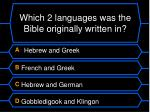 which 2 languages was the bible originally written in