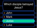 which disciple betrayed jesus1