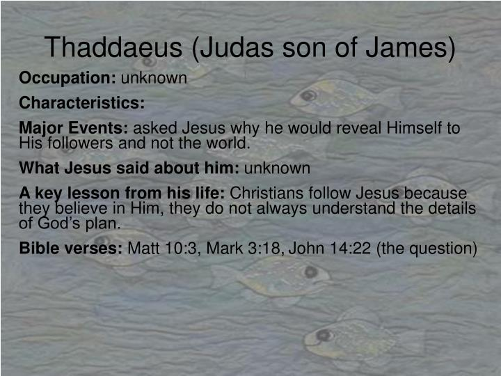 Thaddaeus (Judas son of James)