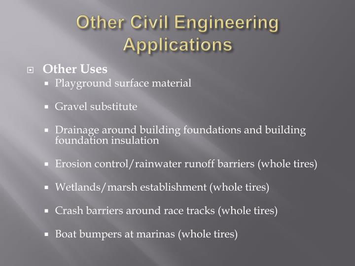 Other Civil Engineering Applications